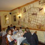 Le repas du soir à Krakow